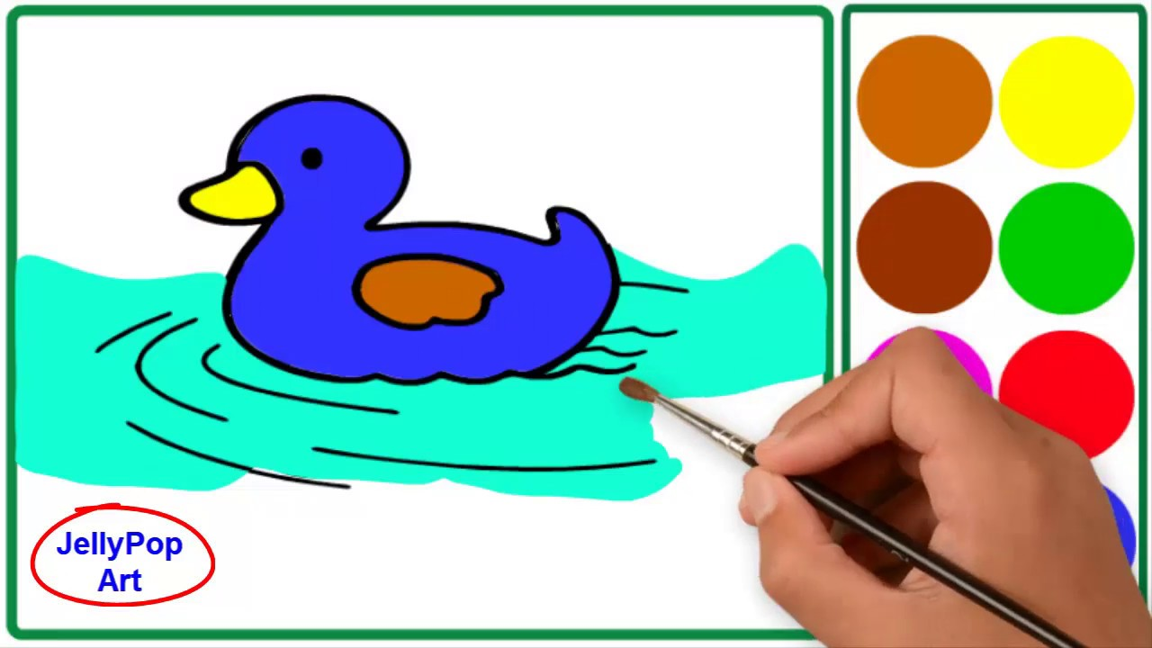 Belajar Menggambar Dan Belajar Mewarnai Binatang Bebek Untuk