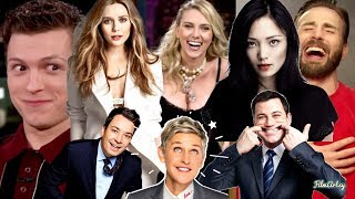 Avengers Craziest Moments On Ellen, Jimmy Fallon & Jimmy Kimmel | Try Not To Laugh