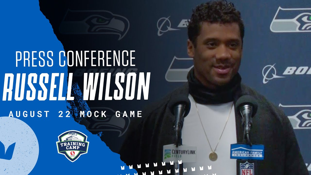 Russell Wilson 2020 Training Camp August 22nd Mock Game Press Conference