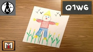 How to Draw a Shape Scarecrow