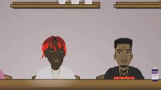 Animated Cartoon featuring 21 Savage, Lil Yachty, Gucci Mane, Young Ma & more