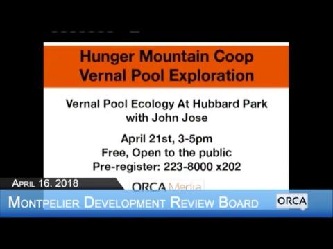 Montpelier Development Review Board - April 16, 2018