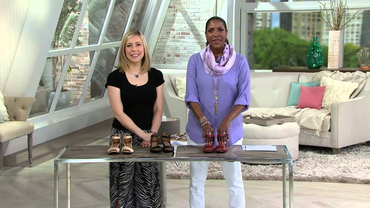4759218b407d Clarks Leather Open Toe Wedge Sandals - Brielle Drive on QVC - YouTube