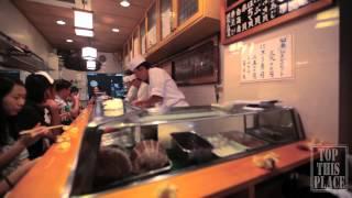 Sushi Dai at Tsukiji fish market Tokyo, Japan