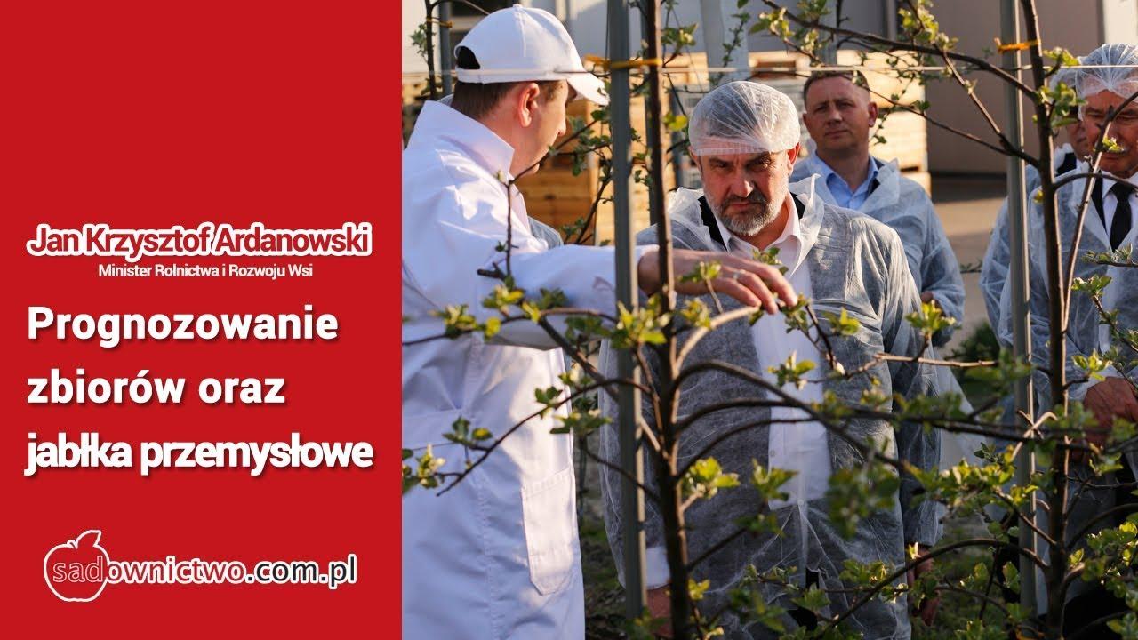 Prognozowanie plonów, jabłka przemysłowe - Minister Rolnictwa - Jan Krzysztof Ardanowski