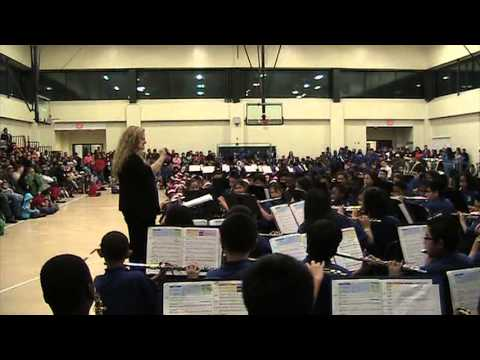 Teacher Kathy Mason., Louise Radloff Middle School Band
