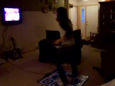 Me talking on teh phone with Shawn while playing DDR