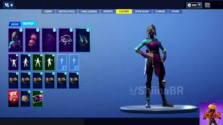 "New fortnite leaked ingame skin season 8 -Nightwitch skin /w - ""Cuddle doll Back Bling"