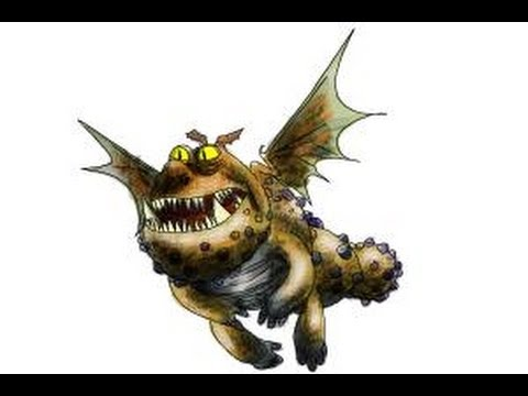 How To Draw Meatlug From How To Train Your Dragon 2 Youtube