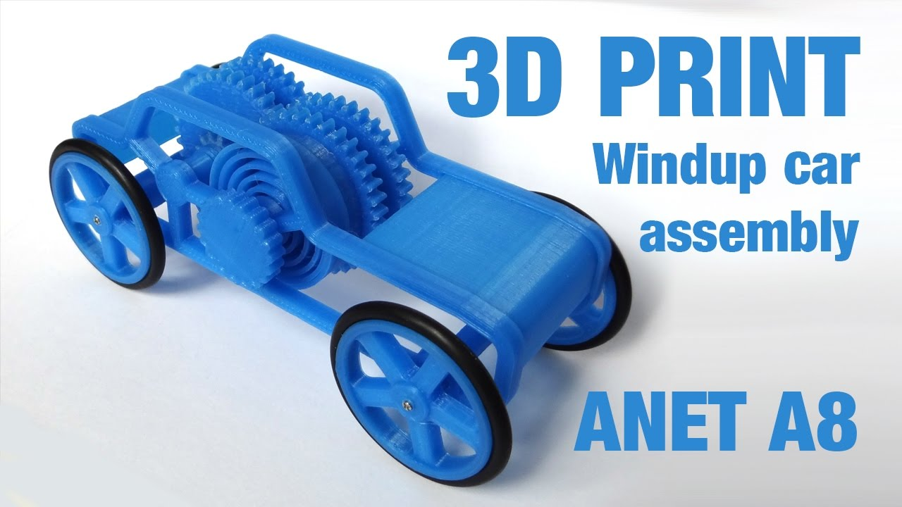 3d Print Windup Motor Car Toy Assembly Youtube