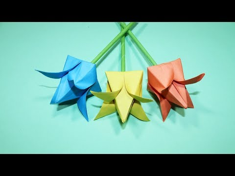 How to Make Paper Lotus Flower - Origami Lotus Flower - Beautiful Paper Flower Making