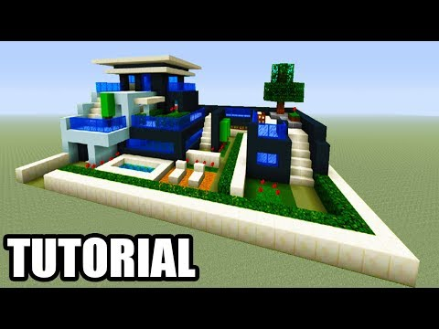 Minecraft Tutorial: How To Make A Modern Mansion #13