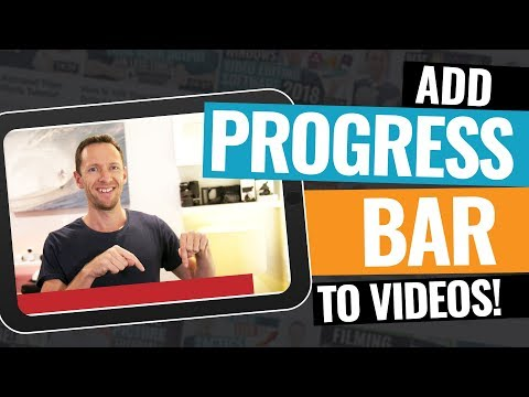 How To Add PROGRESS BAR To Video!