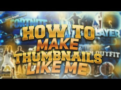 THUMBNAIL TUTORIAL BE A GOD AT GFX LIKE ME!!! MUST WATCH