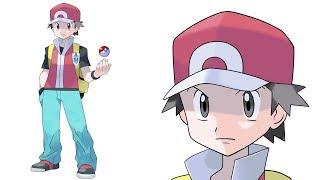 How to draw  Red Pokemon (step by step)- Como dibujar a Red de Pokemon (Paso a Paso)