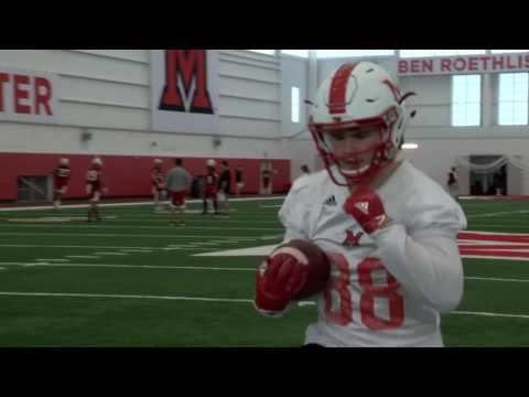 2017 Miami RedHawks Football Spring Practice #2 - Jared Murphy