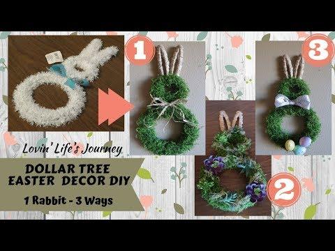 Dollar Tree Easter Rabbit Decor DIY - 3 different looks | Farmhouse, festive, and succulents