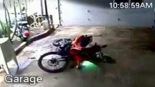 👻 SPOOKY THIEF GHOST tried to get motorcycle, Caught on CCTV!