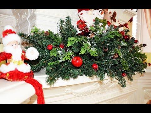DIY УКРАШАЕМ КАМИН на Новый Год, НОВОГОДНИЙ ДЕКОР часть 1, как украсить дом на Рождество