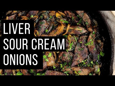 How to cook liver (sour cream and onions) juicy recipe