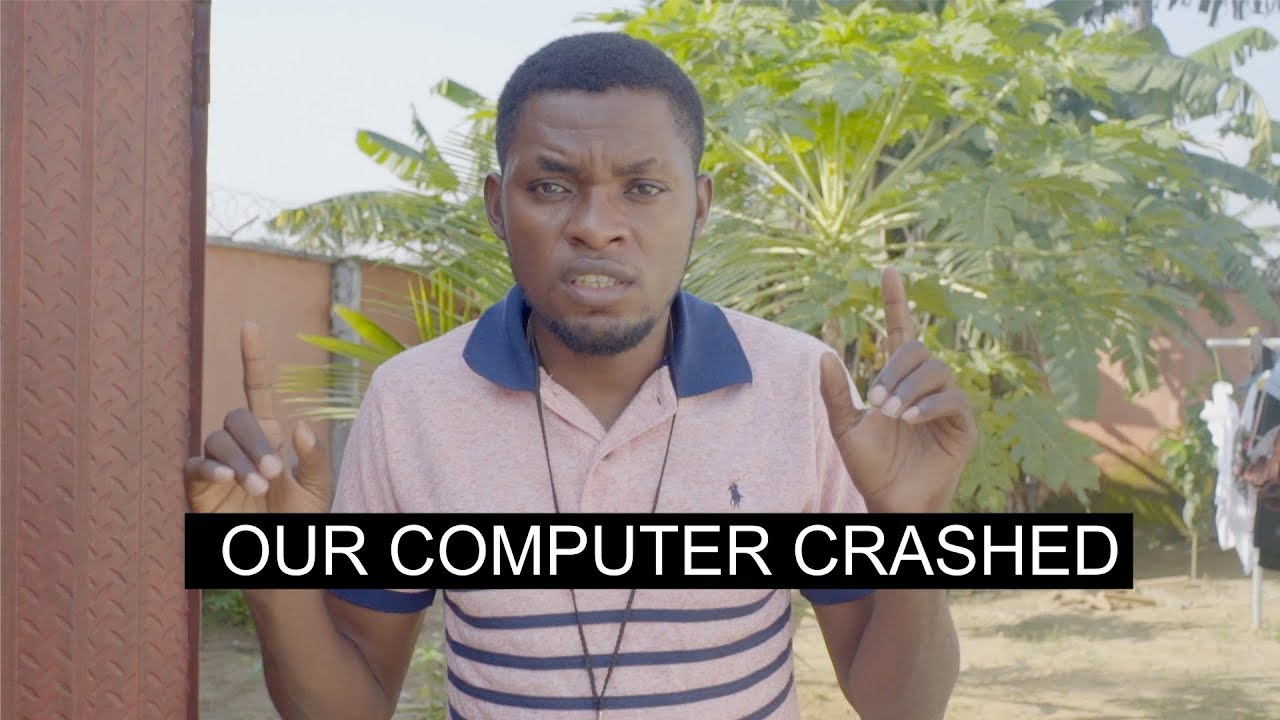 OUR COMPUTER CRASHED (Mark Angel Comedy)