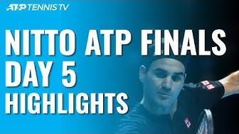 Federer Defeats Djokovic; Berrettini Hands Thiem First Loss   Nitto ATP Finals 2019 Day 5 Highlights