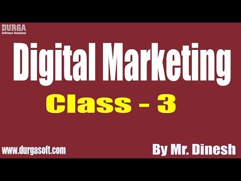 Digital Marketing tutorial || Class - 3 || by Mr. Dinesh On 22-08-2019 thumbnail
