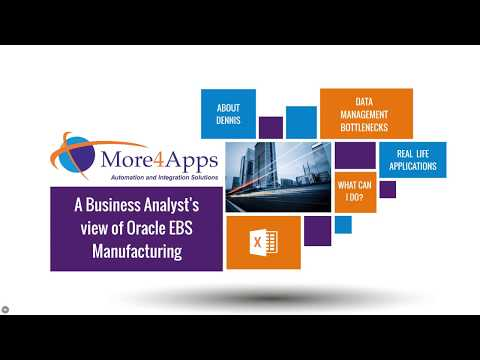 A Business Analyst's view of Oracle EBS