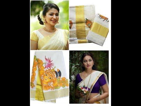 Latest  Onam special sarees // Kerala kasavu saree,settusarees