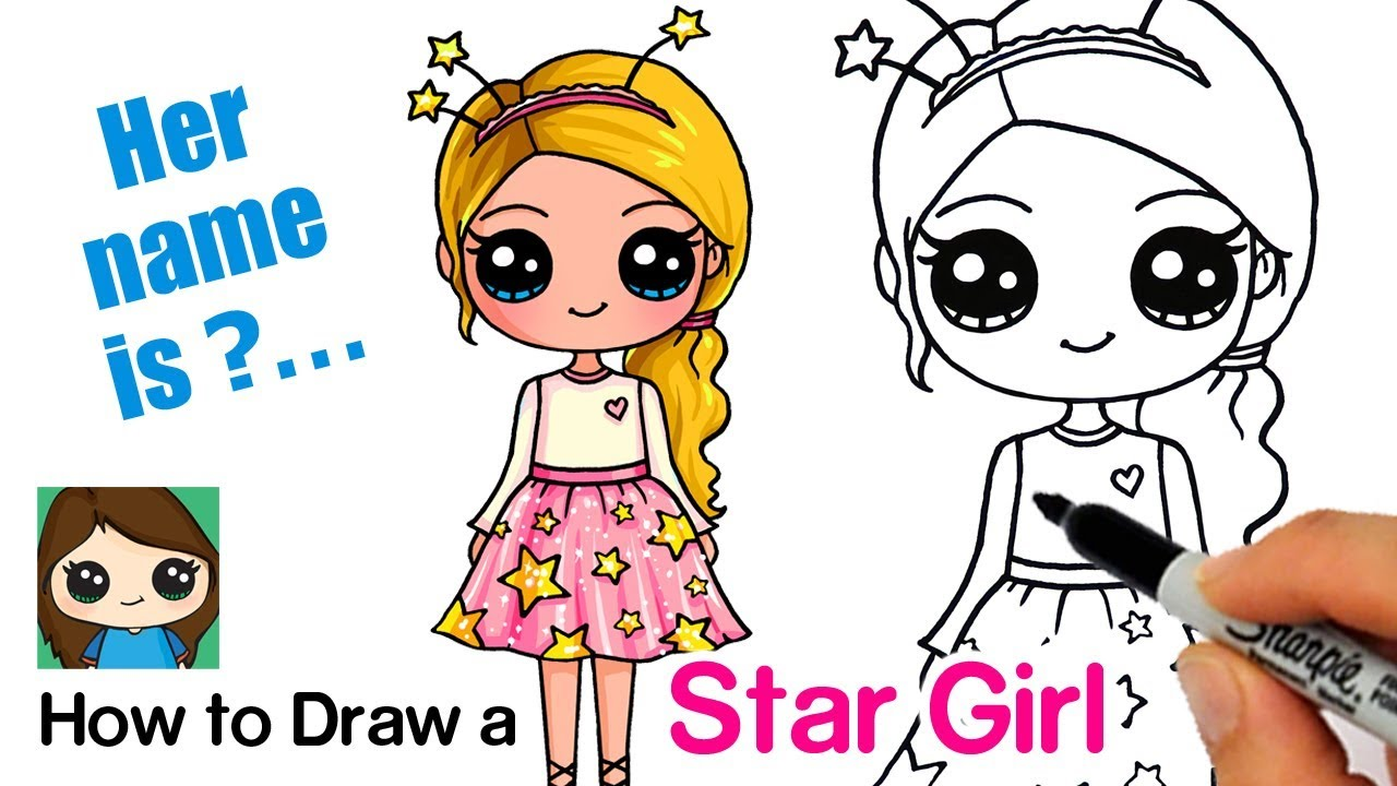 How To Draw A Starshine Sparkle Cute Girl Youtube