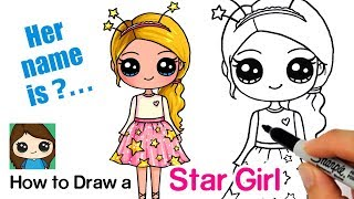 How to Draw a StarShine Sparkle Cute Girl