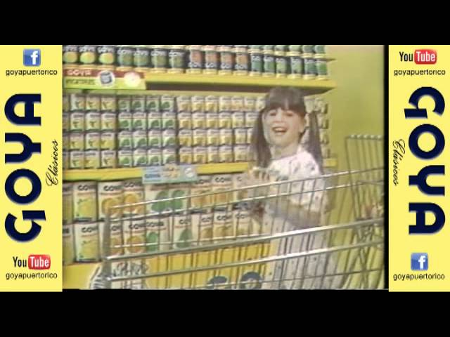 Clásico Jingle con productos Goya (80's)