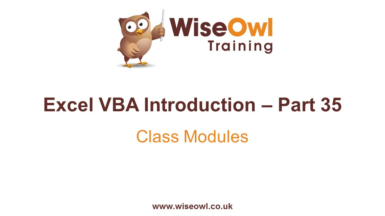 Excel VBA Introduction Part 35 - Class Modules
