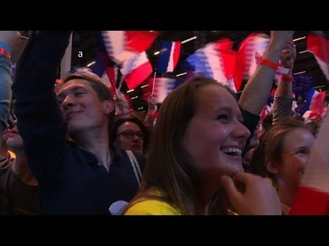 Macron and Le Pen supporters look forward to second round vote