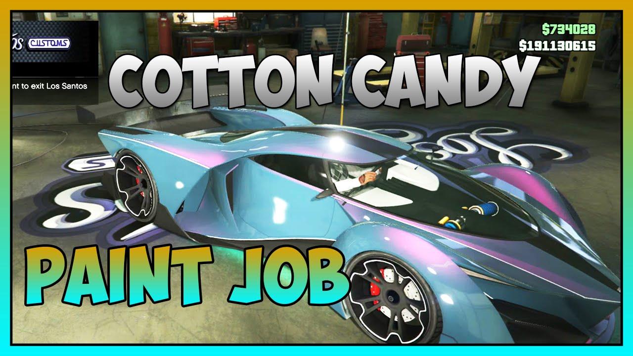 Gta 5 Online Cotton Candy Rare Paint Job Gta 5 Online Secret Rare Paint Jobs Youtube