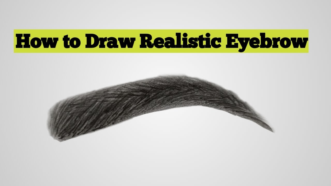 How To Draw Realistic Eyebrows👉Step by Step Eyebrows ...