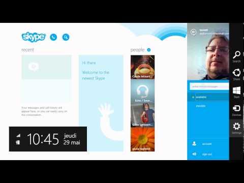 Windows 8.1 How to logout of skype app