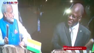 Magufuli na Waziri Mkuu wa India Washindana Kupiga Ngoma