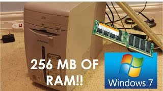 Windows 7 Ultimate on 256MB of RAM 900MHZ Celeron