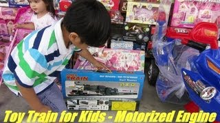 Unboxing His Train Toy - A Toy Train With Light & Sound Complete Set