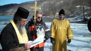 Blessing the River 01/23/2011  St George Serbian Orthodox Church, Carmichaels/Masontown, Pa