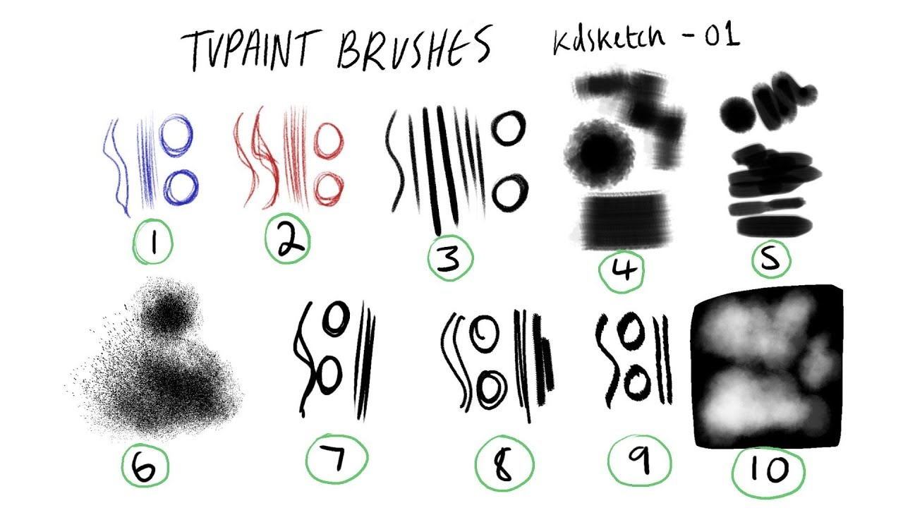 FREE TVPAINT BRUSHES/How to load brushes into TVPaint