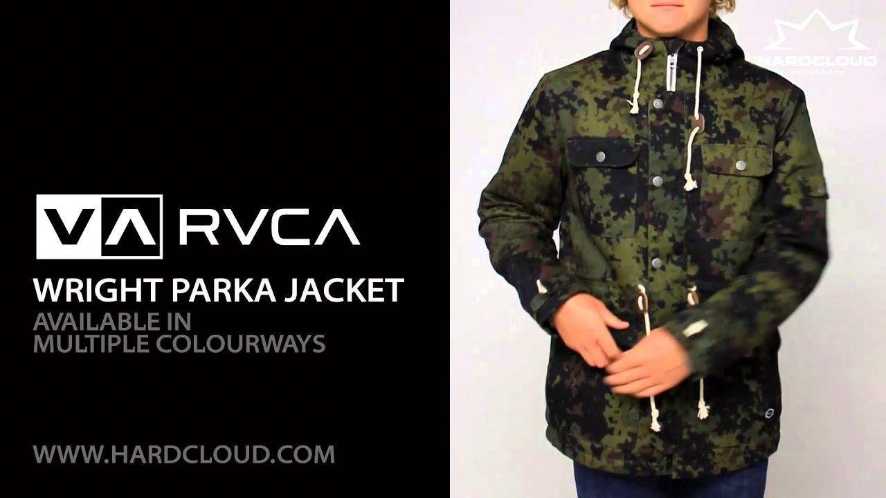 Rvca parka coat with hood