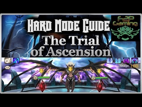 F2PG Summoners War - Trial of Ascension Hard Mode Guide with Rune Builds 1-100F ToA