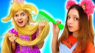 Princess Rapunzel has a MESSY HAIR!! - Needs a new Hairstyle   Super Elsa
