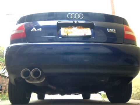 2001 audi a4 2 8 quattro magnaflow exhaust youtube. Black Bedroom Furniture Sets. Home Design Ideas