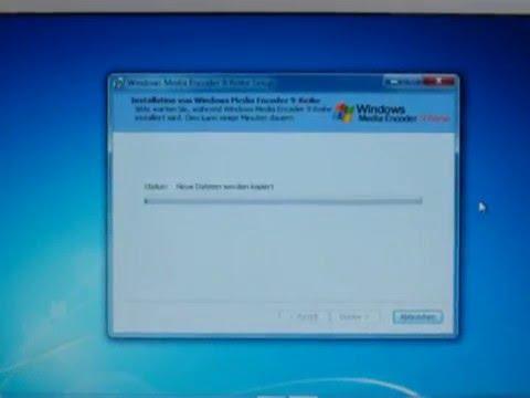 Windows 7 - Windows Media Encoder 9 Instalation