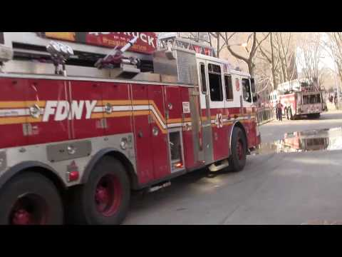 FDNY On Scene for a Major 10-77 All Hands High Rise Fire on 112th St and 5th Avenue