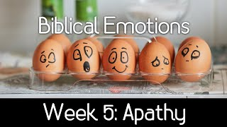 Biblical Emotions - Apathy