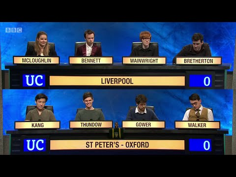 University Challenge  S45E02 - University of Liverpool vs St Peter's College, Oxford.